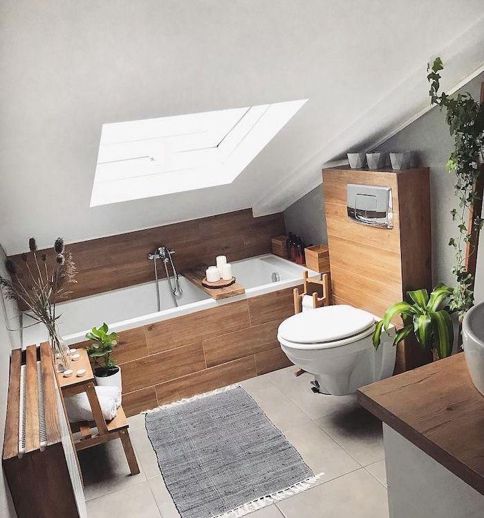 ▷ 97 salles de bain sous comble | Salle de bains sous ...