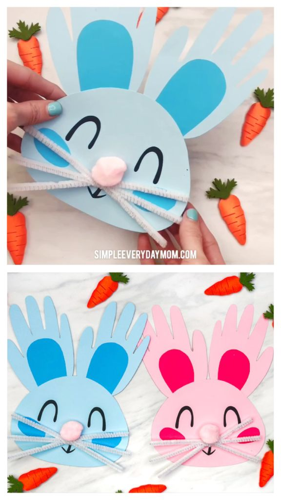 Handprint Bunny Craft For Kids  Handprint Bunny Craft For Kids | Toddlers, preschool and kindergarten kids will love making these DIY Easter bunnies from their handprints and some simple craft supplies. They're cute, easy to make and come with a free printable template.  #kids #kidsactivities #kidscrafts  The post Handprint Bunny Craft For Kids appeared first on Woman Casual.