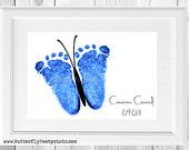 Personalized baby footprint or handprint keepsake by InvitesByMaL