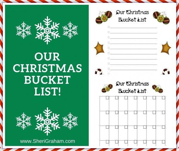The 25+ best Christmas bucket lists ideas on Pinterest Winter - free printable christmas lists