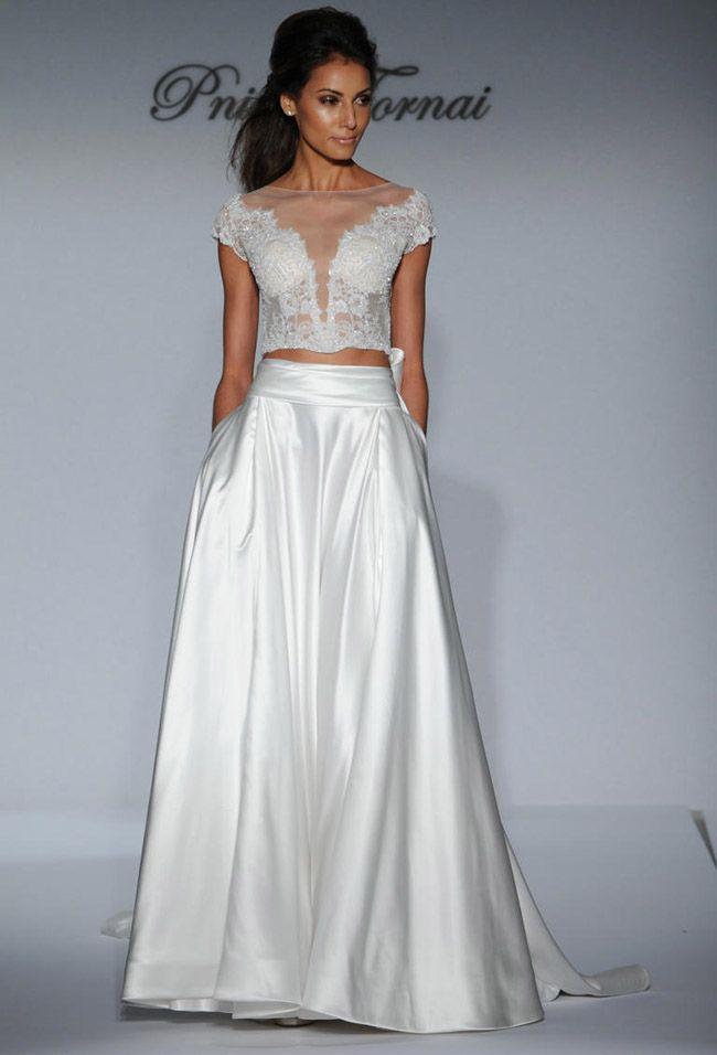 25 best Crop Top Wedding Dresses images on Pinterest   Wedding ...