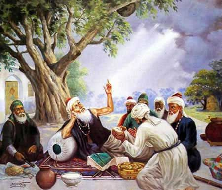 Farid with disciples