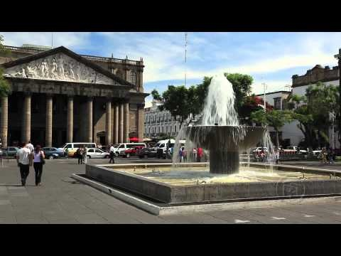 Central square. Guadalajara, Mexico. ArmchairTourist.com video