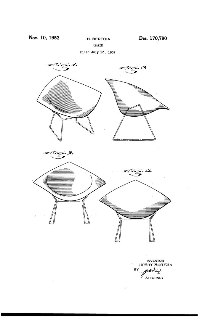 Chair antique queen anne chair the buzz on antiques antique chairs 101 - Patent Usd170790 Bertoia Chair Google Patents