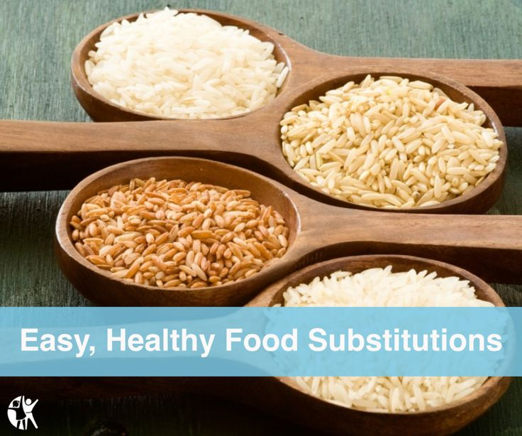 This handy chart can help your family make healthy food substitutions.