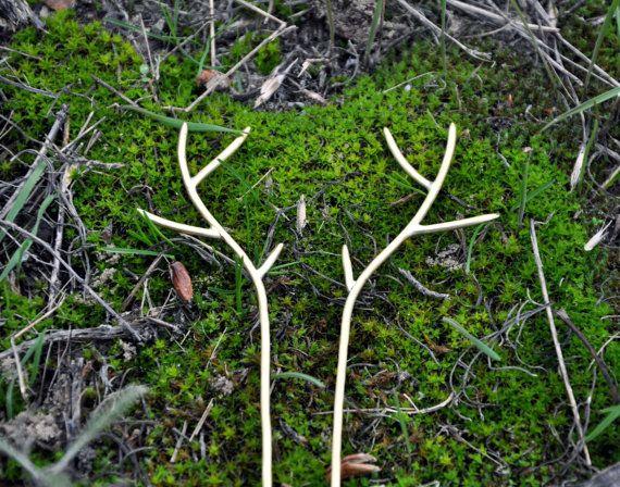 Deer antler capelli pin cervi antler gioielli di SpiceWildflowers