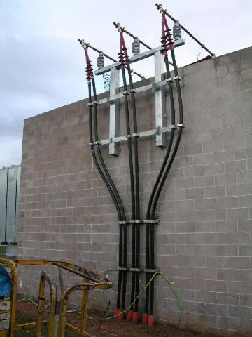 High voltage cable termination