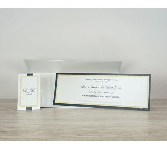 Trouwkaart Sprankelend glitterkader (POCHSC1-28)