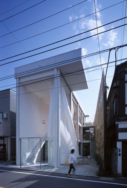 Shigeru Ban - See it closed in adjacent image SBA_Glass Shutter House