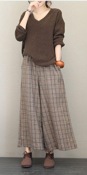 Beiläufiger V-Ausschnitt Basis Pullover Frauen Lose Tops Q1724