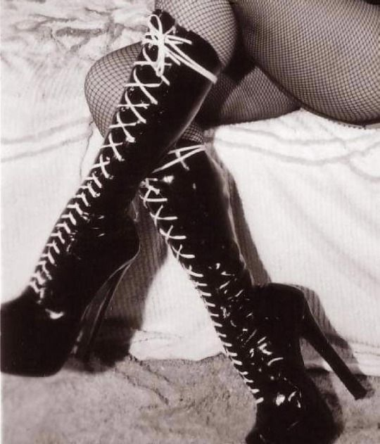 'Those are whore boots.' / Jazzi shrugged. 'How can a boot be sexually promiscuous.' / Nova rolled her eyes.