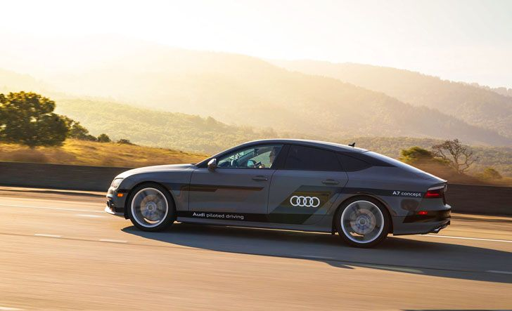 To showcase its autonomous driving technology at CES 2015, Audi let a team of journalists pilot an A7 concept that drove by itself from the Silicon Valley to Las Vegas.
