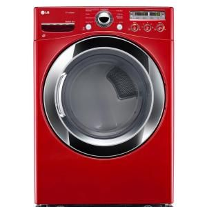 LG Electronics 7.3 cu. ft. Gas Dryer with Steam in Wild Cherry Red-DLGX3251R at The Home Depot