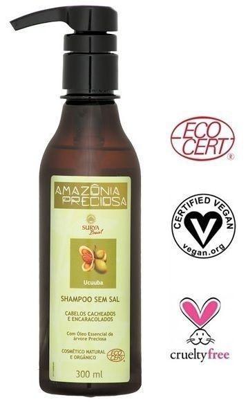 Shampoo Orgânico Ucuuba - Cabelos Cacheados e Encaracolados - Amazônia Preciosa Surya - Beleza do Campo