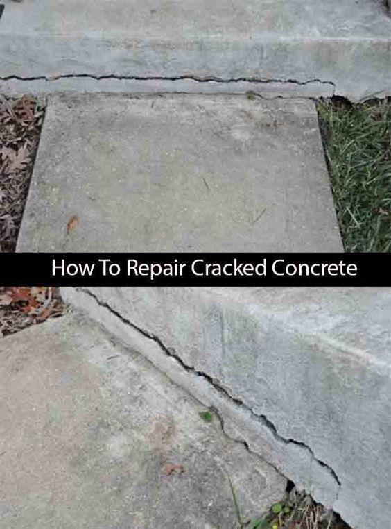 repair crack in cement steps