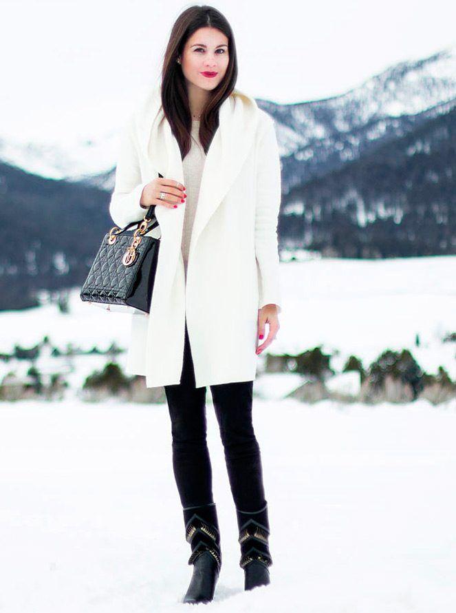 Красивые белые пальто и шубы