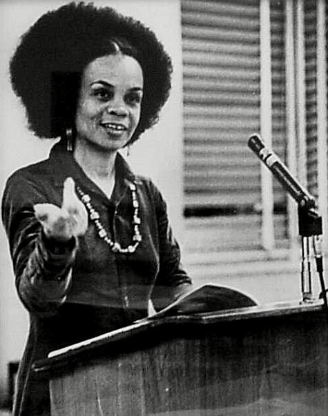 "Sonia Sanchez.   ""All poets, all writers are political. They either maintain the status quo, or they say, 'Something's wrong, let's change it for the better.' That's what my life has really been about."""