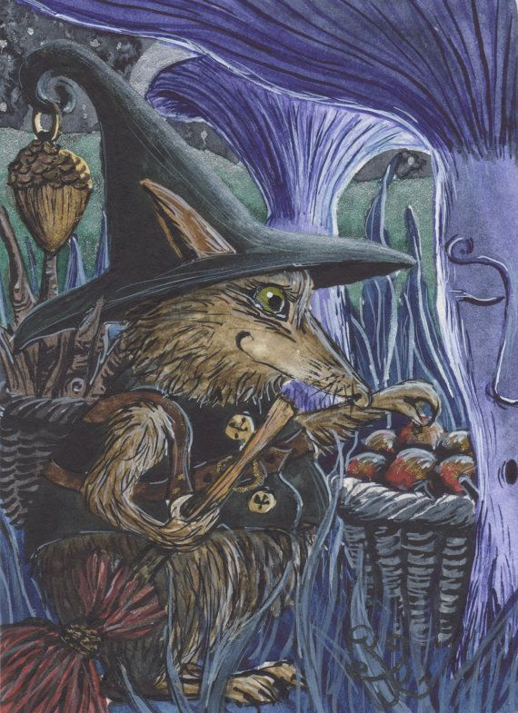 Beatha  A 'Peffa-Oidy' Woodland Witch  A4 by JacquiLoveseyArt