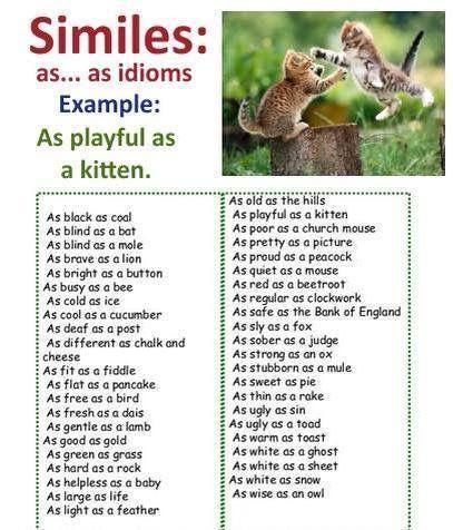 Similes #EnglishGrammar #EnglishVocabulary #LearnEnglish @English4Matura