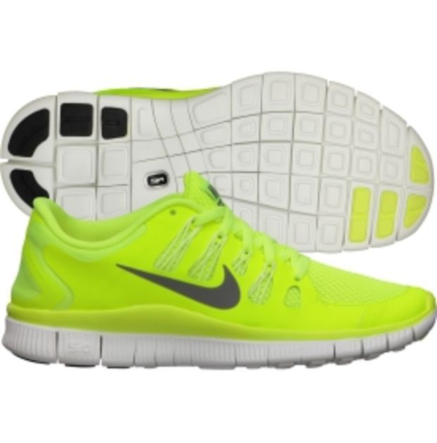 Nike Women's Free 5.0+ Running Shoe - Volt/White | DICK'S Sporting Goods