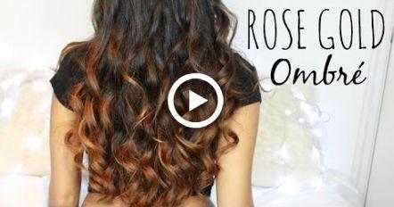 Rose Gold Ombr // From Dark Hair