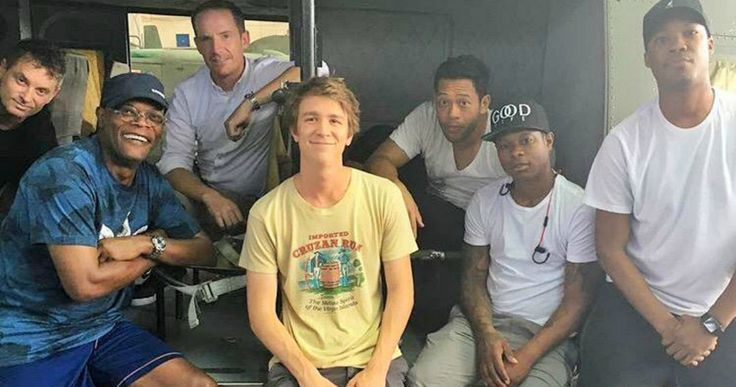 'Kong: Skull Island' Cast Unite in First Set Photos -- A big red skull is seen on the Hawaiian set of 'Kong: Skull Island', with shooting set to begin next week. -- http://movieweb.com/kong-skull-island-movie-cast-set-photos/