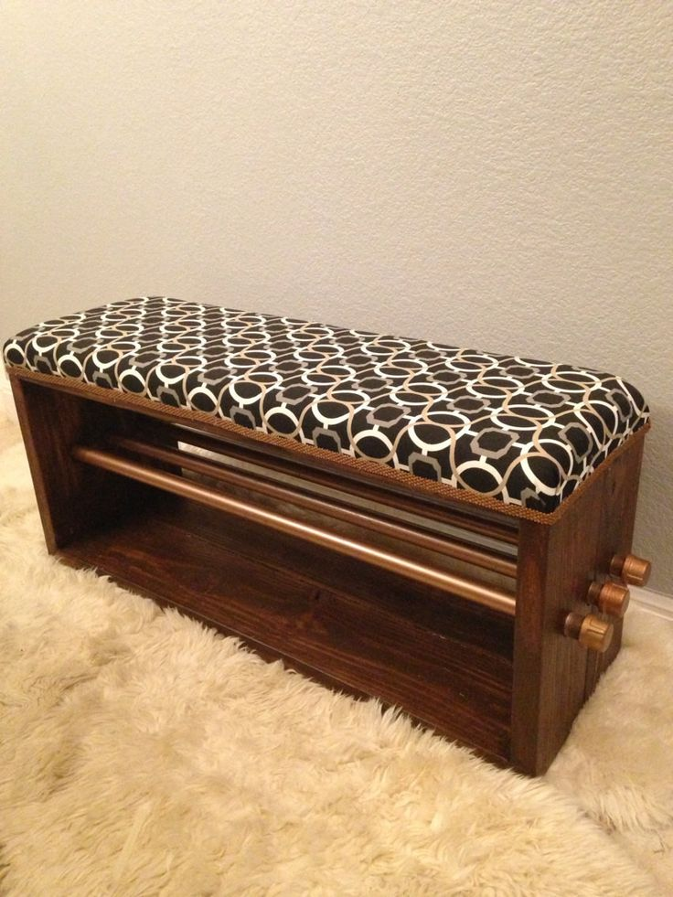upholstered industrial dining bench