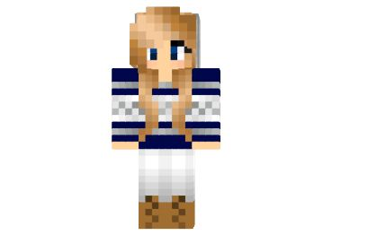 Cute Navy Sweater Girl Skin - Minecraft 1.9 1.8 1.7.10