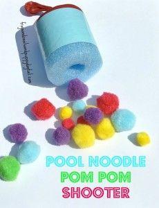pool noodle boats water sensory bin