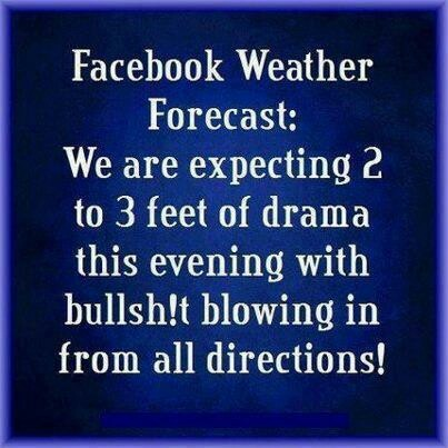 Facebook Humor | Facebook weather forecast.