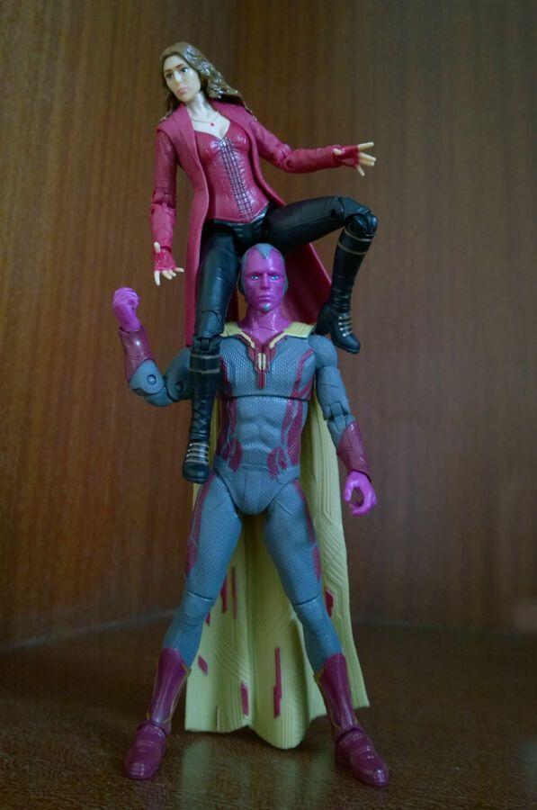 Marvel Legends Civil War Vision scarlet witch spouse PVC Action Figure 2pcs//set