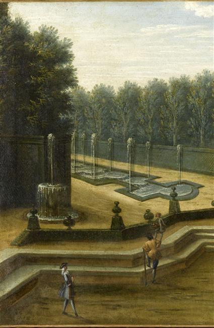 | Le Bosquet du Théâtre d'Eau dans les jardins de Versailles au début du 18ème siècle | Images d'Art