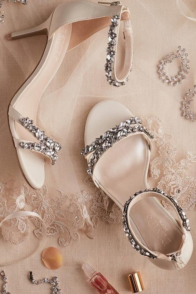 492d00829a492 comfortable wedding shoes with low heels beaded stones sparkle davids bridal