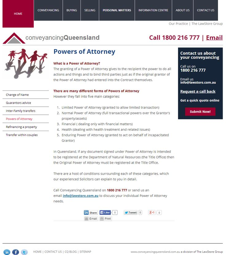 CQ Blog - Conveyancing #Queensland http\/\/www - financial power of attorney form