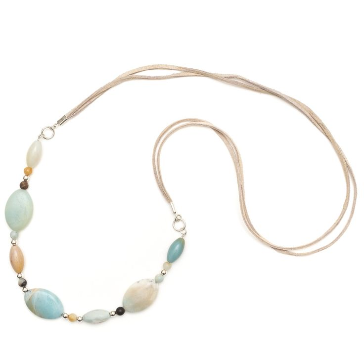 xada jewellery - Sands long Amazonite suede necklace, $41.95 (http://www.xadajewellery.com/shop-collection/long-amazonite-suede-necklace/)