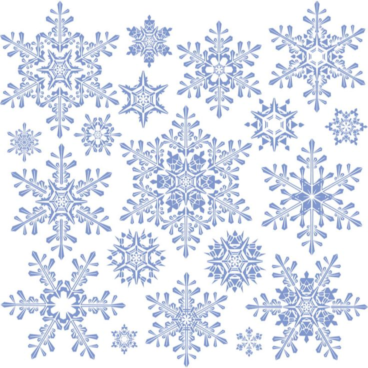 Decorative snowflakes templates #vector