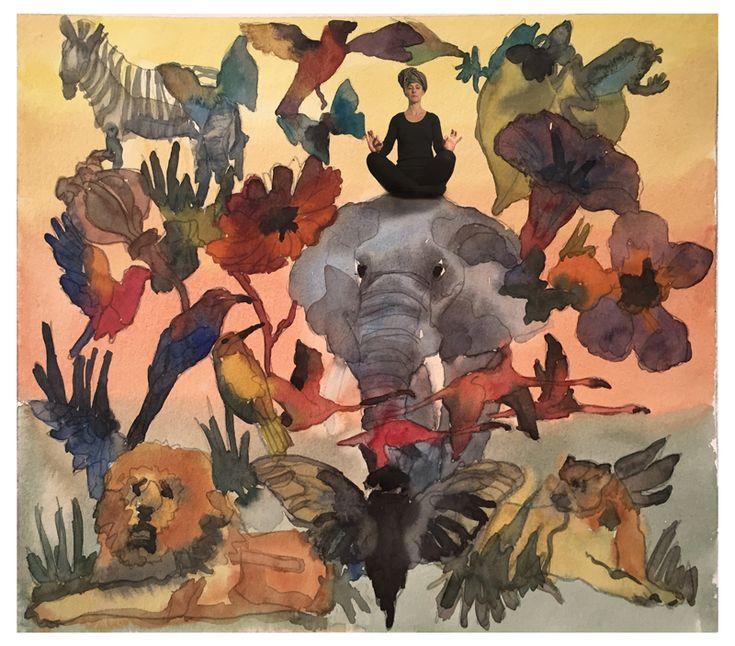 Watercolour Montage Hanna Waite