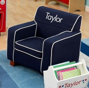 Love This Cute Navy Chair For Kids! I Especially Love That It Can Be  Personalized