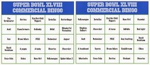 This Super Bowl Commercial Bingo would be so fun at your Super Bowl party #RubbermaidSharpie #PMedia