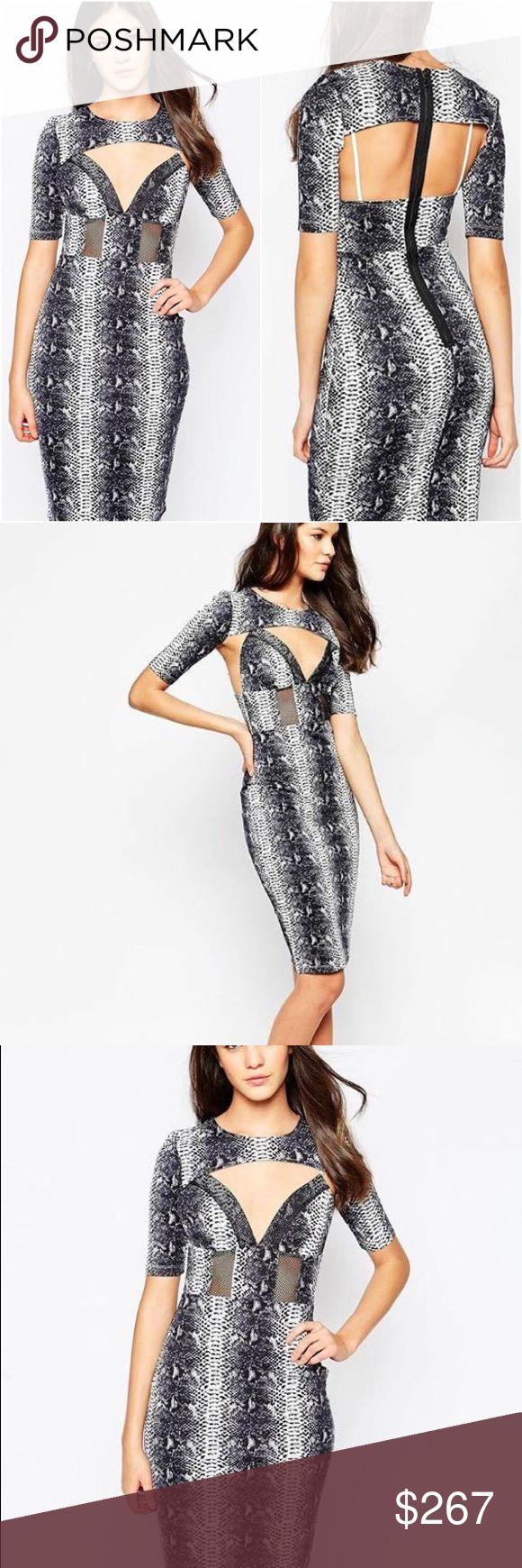 Stylestalker Bodycon Python Print Cut Out Dress 2 Be daring in this python print cut out dress by Stylestalker. Size 2. New with tags's. Stylestalker Dresses Midi