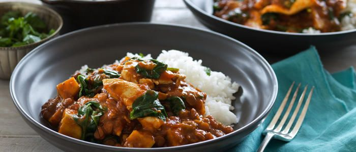 Indian Lentils with Chicken & Spinach