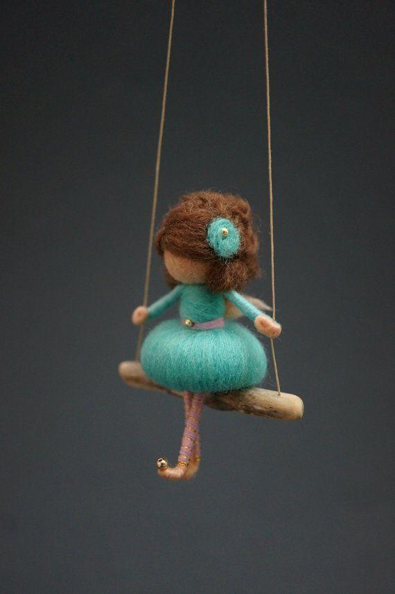 Needle Felted Fairy Doll MADE TO ORDER от DORIMU на Etsy, #Doll #dorimu #Ets…