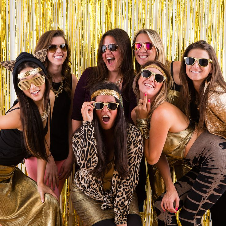 A gold photo booth is a must-have at your next party. #goldrush