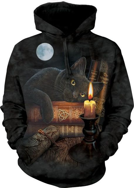 Black Cat and Candle Hoodie - Gothic Goth - Buy it now here: http://goo.gl/6gkTTE