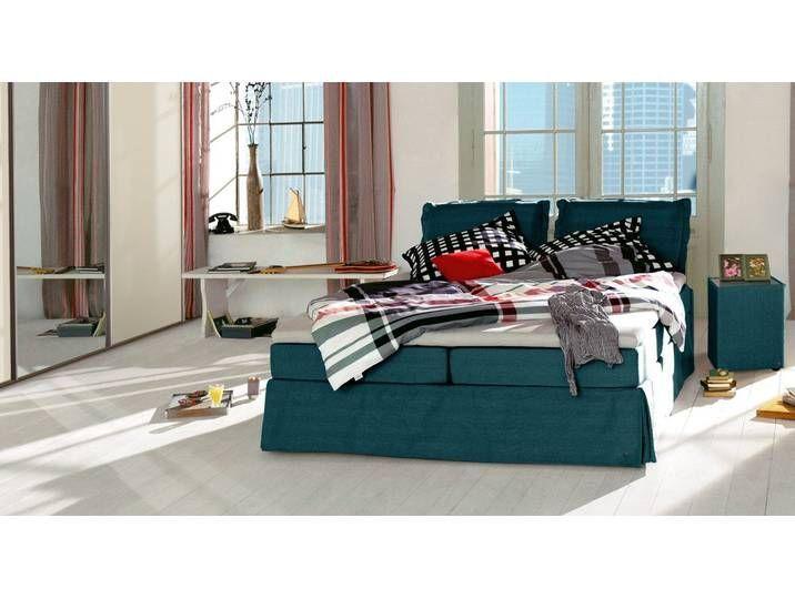 Tom Tailor Boxspringbett Cushion 180x220 Cm Petrol H2 Betten D In 2020 Bed Cushions Cushions Box Spring Bed