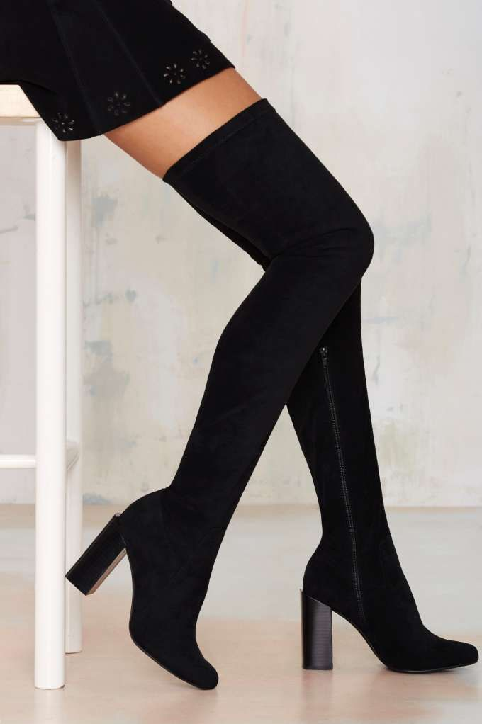 Jeffrey Campbell Perouze Thigh High Boot | Shop Shoes at Nasty Gal!