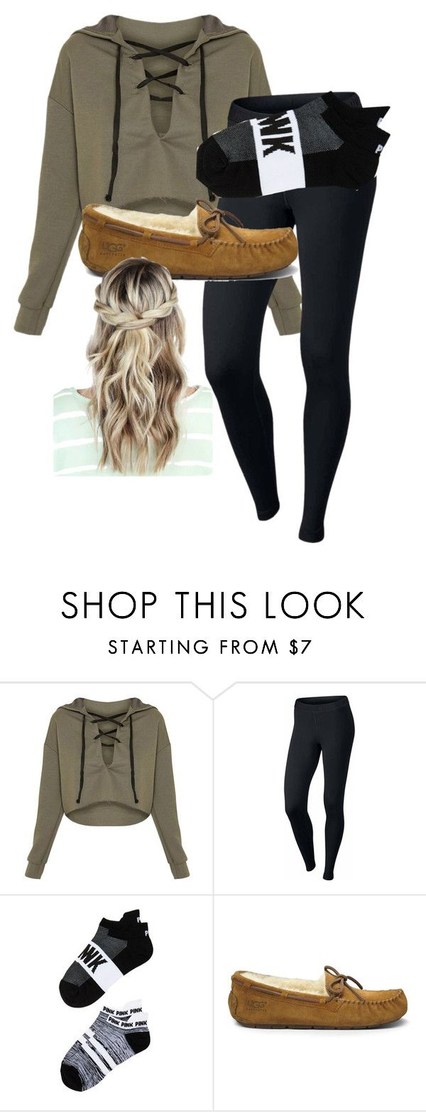 School Outfit by chloefaust on Polyvore featuring NIKE, Victorias Secret and UGG