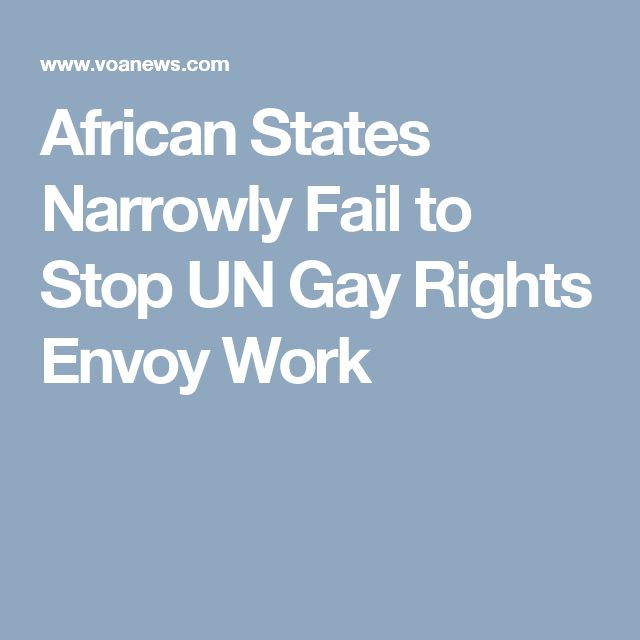 African States Narrowly Fail to Stop UN Gay Rights Envoy Work