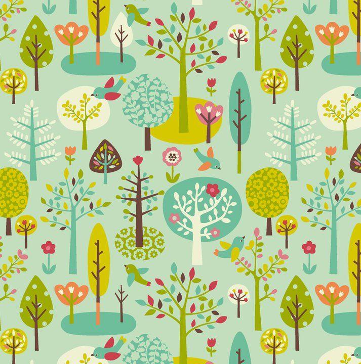 tissu forêt Mini Labo pour Motif personnel