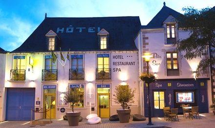 Bretagne: 1 ou 2 nuits avec petit déjeuner, accès Spa, dîner et modelage en option à l'Hôtel-Restaurant Les Palis pour 2